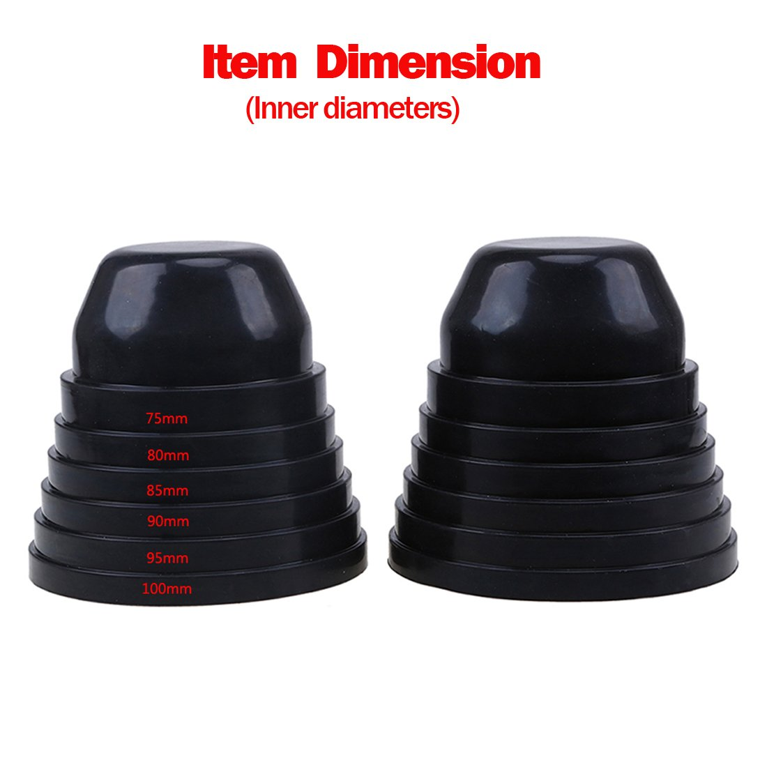 KOOMTOOM LED Headlight Dust Cover Rubber Cap LED Xenon Flexible Car Headlight Dustproof Housing Shell Cap 75mm 80mm 85mm 90mm 95mm 100mm