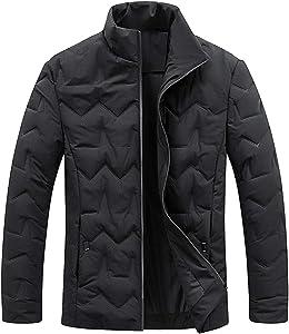 FWJ-clothes Men's Jackets Coats Mens Coats Regular Fit Jackets Warm Light Winter Jacket Trench Coat Ideal for Cold Weather,Black,L
