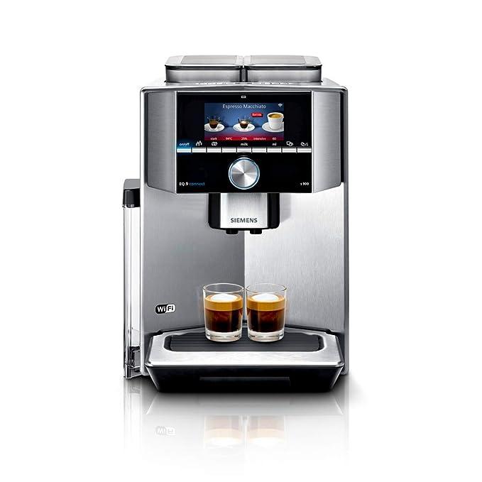 Siemens TI909701HC - Cafetera (Independiente, Máquina espresso, Granos de café, Molinillo integrado, Negro, Acero inoxidable): Amazon.es: Hogar