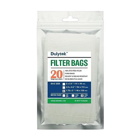 Amazon.com: dulytek colofonia bolsas de filtro, 160 Micras ...
