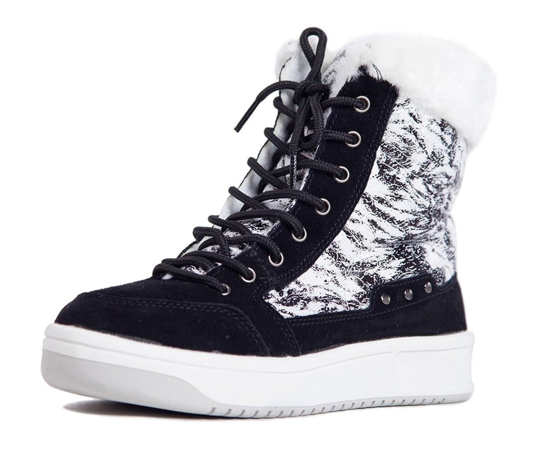 SkiBoot Women Shoelace Closure Winter Warm Ankle Snow Boots shoes