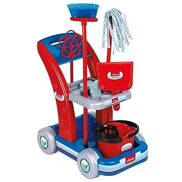 Faro - Carrito de limpieza, juguete del hogar: Amazon.es: Juguetes y juegos