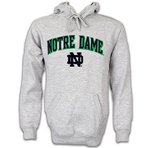 Irish Fleece Hoodie Sweatshirt Gray - XL (Notre Dame Hoodies)