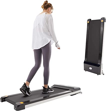 Fashion Sport Equipment Home Under-Desk Walking Treadmill Jogging Exercise Machine Remote Control,Shipped from US White