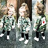 Sudiy Girls Boys Camouflage Love Letter Print Jacket (80, Camouflage)