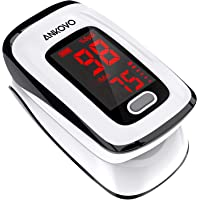 Pulse Oximeter Fingertip (Oximetro), ANKOVO Blood Oxygen Saturation Monitor, Heart Rate Monitor and SpO2 Levels…