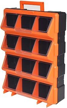vidaXL Caja Herramientas Pared Portátil 12 Compartimentos ...