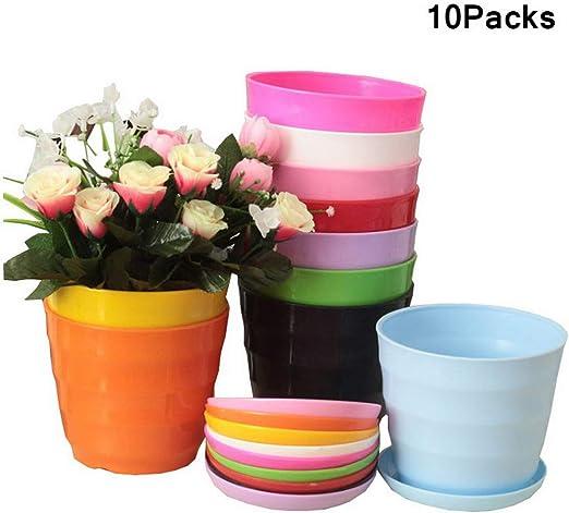 Produttori Vasi In Plastica.Lelestar Vasi Per Piante Moderni Vaso E Vassoio Colorati Vasi Di