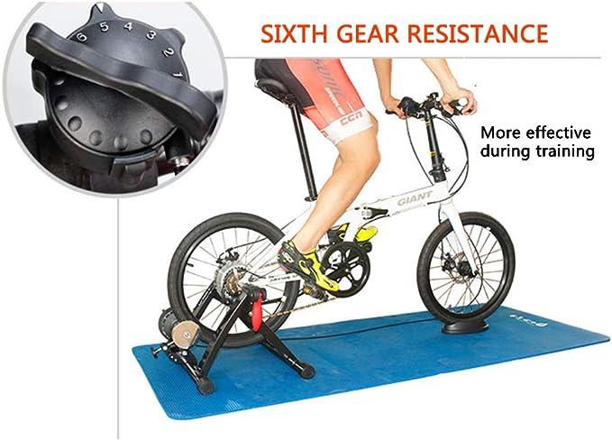 Magnética entrenador bicicletas - bicicletas Turbo Trainer Bicicleta magnética Turbo Trainer - 6 niveles variables resistencia bicicletas Trainer - 20 /22 /451 plegable BMX bicicleta carretera,A: Amazon.es: Deportes y aire libre