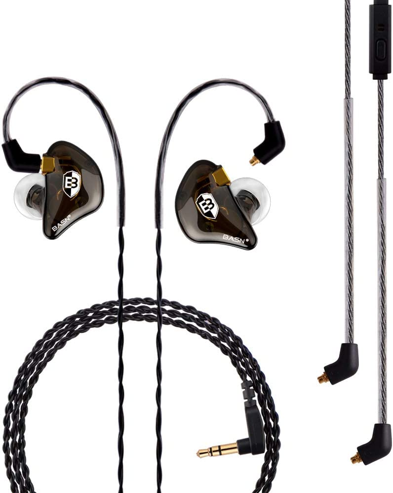 Basn Professional In-Ear Monitor Headphones For Singers Drummers