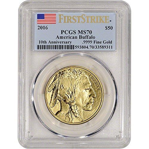2016 American Gold Buffalo (1 oz) First Strike $50 MS70 PCGS