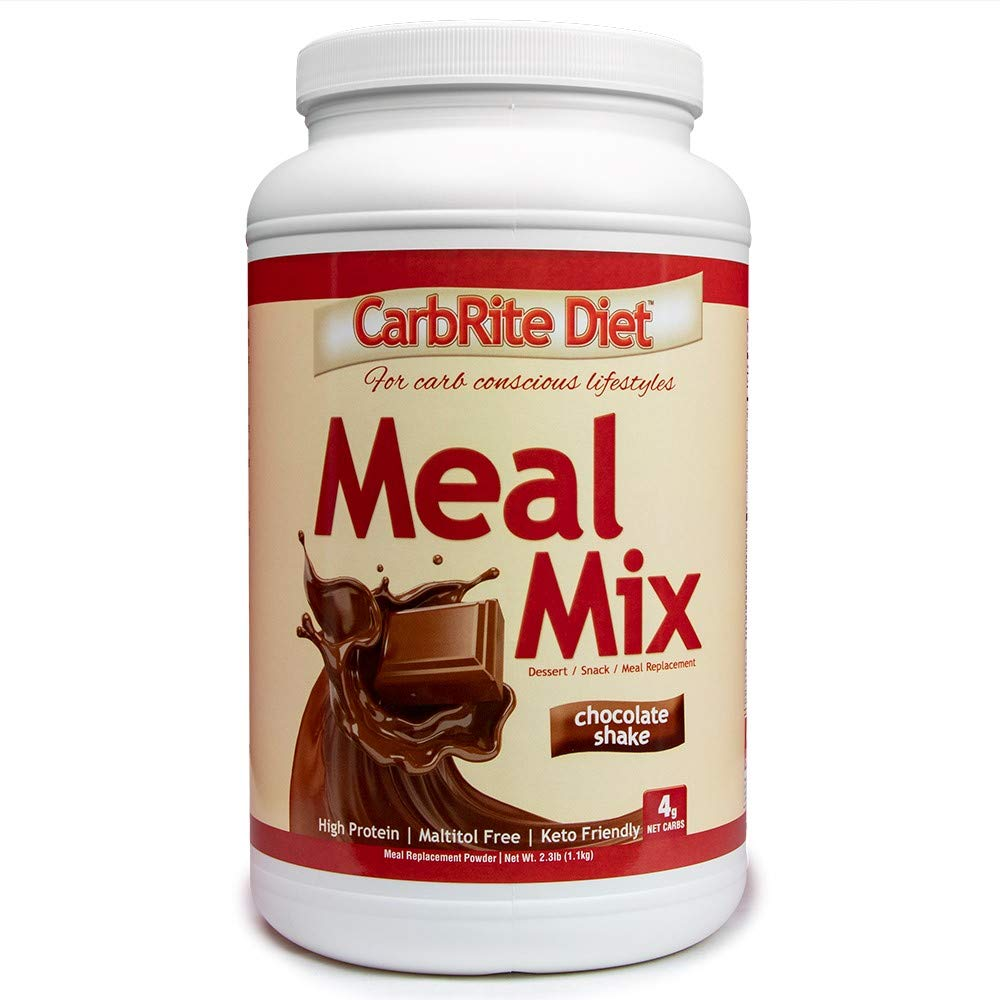 Doctor's CarbRite Diet CarbRite Diet Meal Mix - for Keto & Low Carb Diets - Gluten-Free - 12 Essential Vitamins & Minerals with Electrolytes & only 4g net Impact Carbs - Chocolate - 21 Servings by Doctor's CarbRite Diet