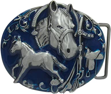 Horse Belt Buckle Western Cowgirl Cowboy Unisex Rodeo Fashon New Men Women Metal