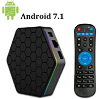 Android TV Box, T95Z Plus Android 7.1 Smart Box with Amlogic S912 Octa Core 64Bit 3GB DDR3 32GB Emmc 2.4GHz/5GHz WiFi 1000M LAN Ethernet H.265 Bluetooth 4.0 DLNA UHD 4K