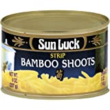 SUN LUCK BAMBOO SHOOT STRIP, 8 OZ (Pack of 4)