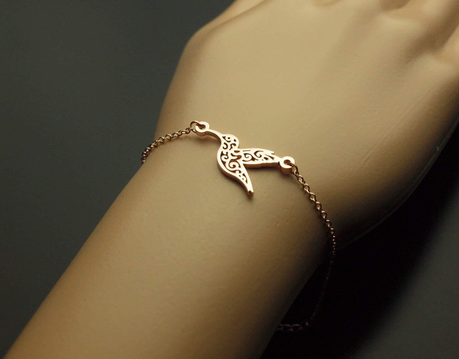Armreifen Mond mit Stern Armband Armkette bronze Juvelato