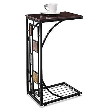 Chevet Bois Lazy De Ordinateur Costway Bureau En Table Pour Portable wXOZN8Pnk0