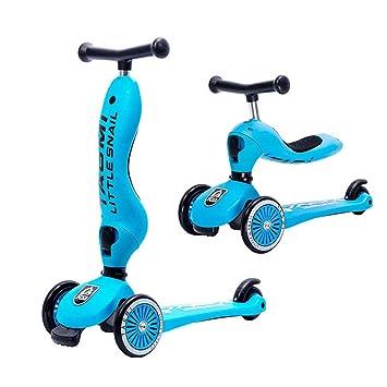 Amazon.com: SLONG - Patinete infantil con 3 ruedas y 2 en ...