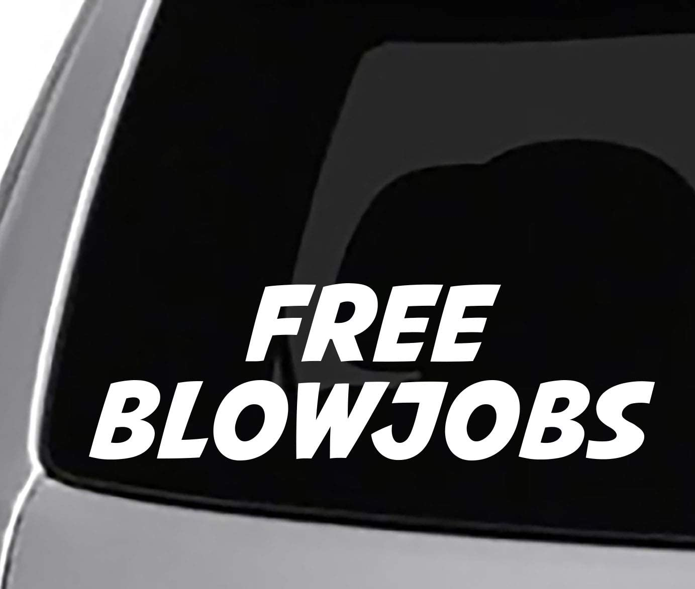 free blowjobs sticker vinyl funny car decal
