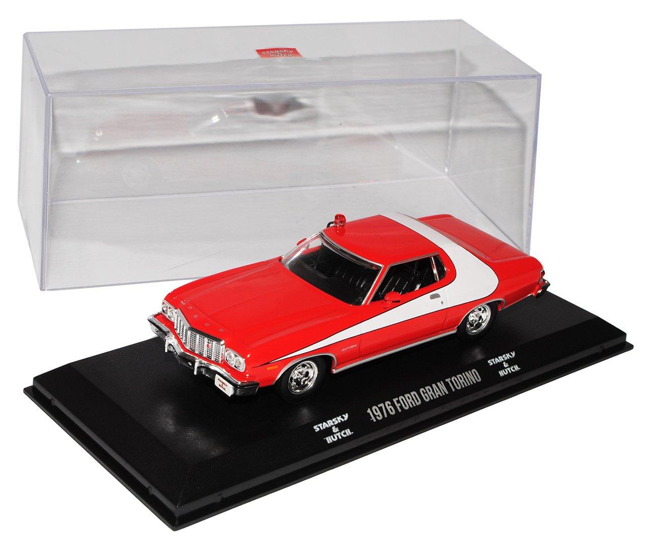 Ford Gran Torino Sport Coupe Rot Weiss Starsky Und Hutch 1976 1 43 1964 Greenlight Modell Auto Mit Individiuellem Wunschkennzeichen Spielzeug