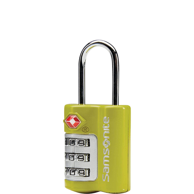 Samsonite Travel Sentry 3 Dial Combination Lock 2 Pack (2 Pack, Green(86549-1388)) by Samsonite