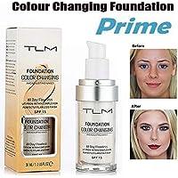 TLM Foundation Color Changing,CosmetiqueTLM Fond de Teint Changeant de Couleur - Base de maquillage Nude - Correcteur de couvrance liquide BB creme Fond de Teint Couvrant Liquid Foundation Hilareco