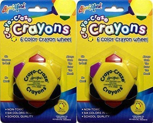 crayo-craze-crayons-6-color-crayon-wheel-pack-of-2