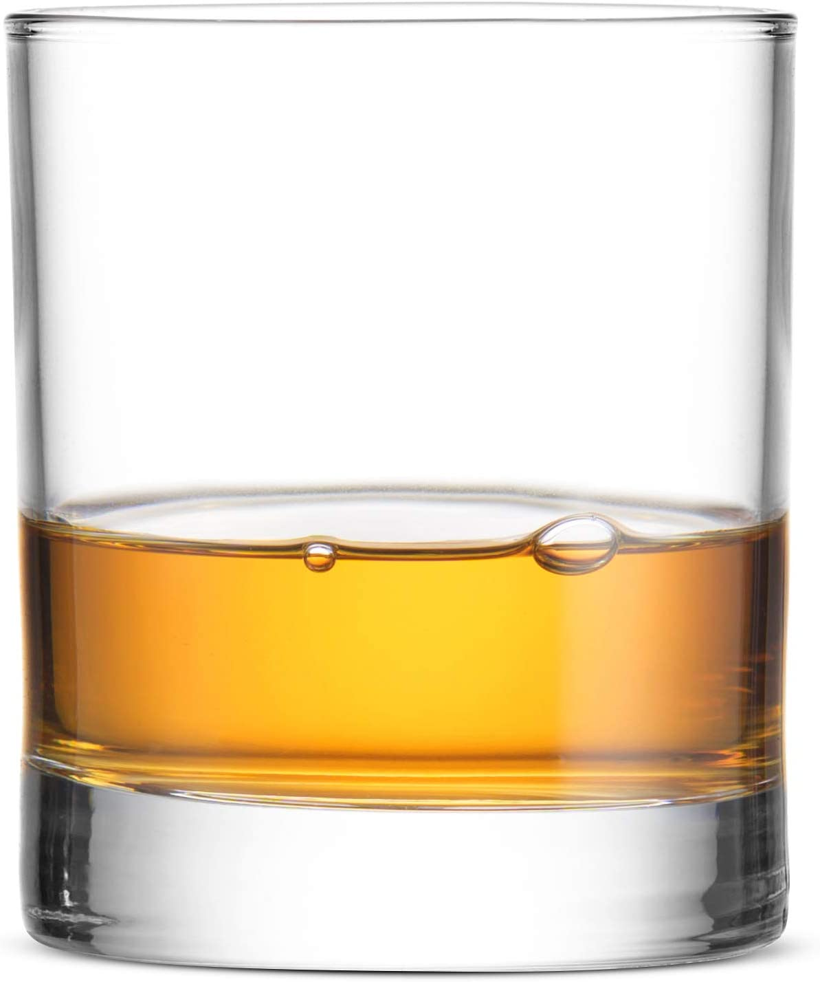"""Bormioli Rocco Small 2 ¾"""" x 3"""" Italian Weighted Bottom Old Fashioned Whiskey Glasses for Wine, Scotch, Cocktails, Juice, and Water - [6 Piece Set] 6 ½ Ounce"""