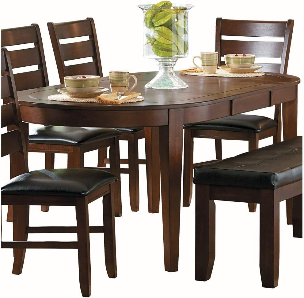 Homelegance Ameillia Butterfly Leaf Oval Dining Room Table
