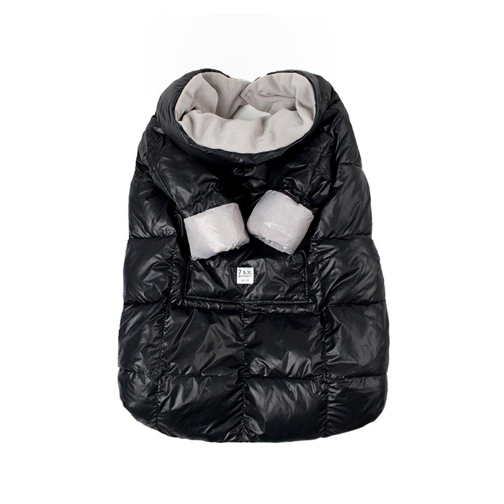 7AM Enfant Easy Cover Bunting Bag, Black, Large