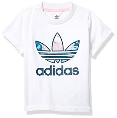 4044652e Amazon.com: adidas Originals Baby Girls' Marble Trefoil Tee: Clothing