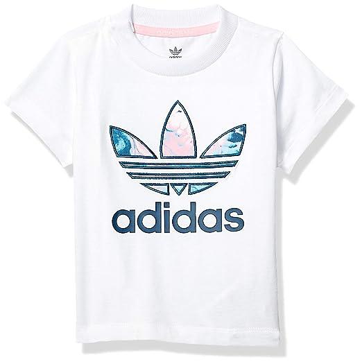 98e0da9c5eb55 adidas Originals Baby Girls' Marble Trefoil Tee