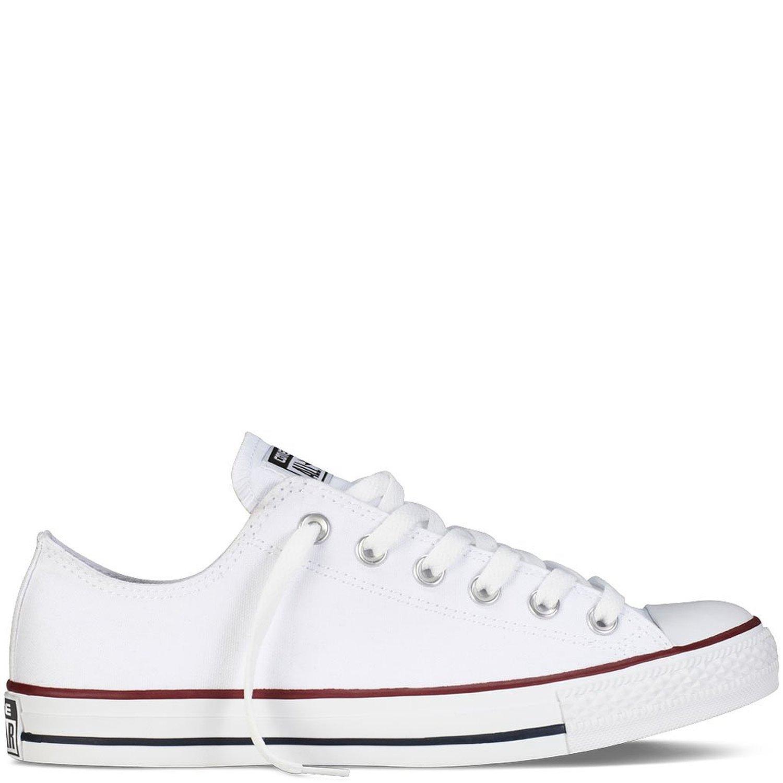 Converse Unisex Chuck Taylor All Star Ox Sneakers Optical White M7652 Size 11 B(M) US Women / 9 D(M) US Men