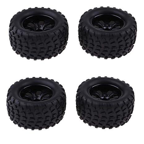 Sharplace 103 mm Neumático de Goma Rueda Color Negro para 1/10 RC Coches Rock