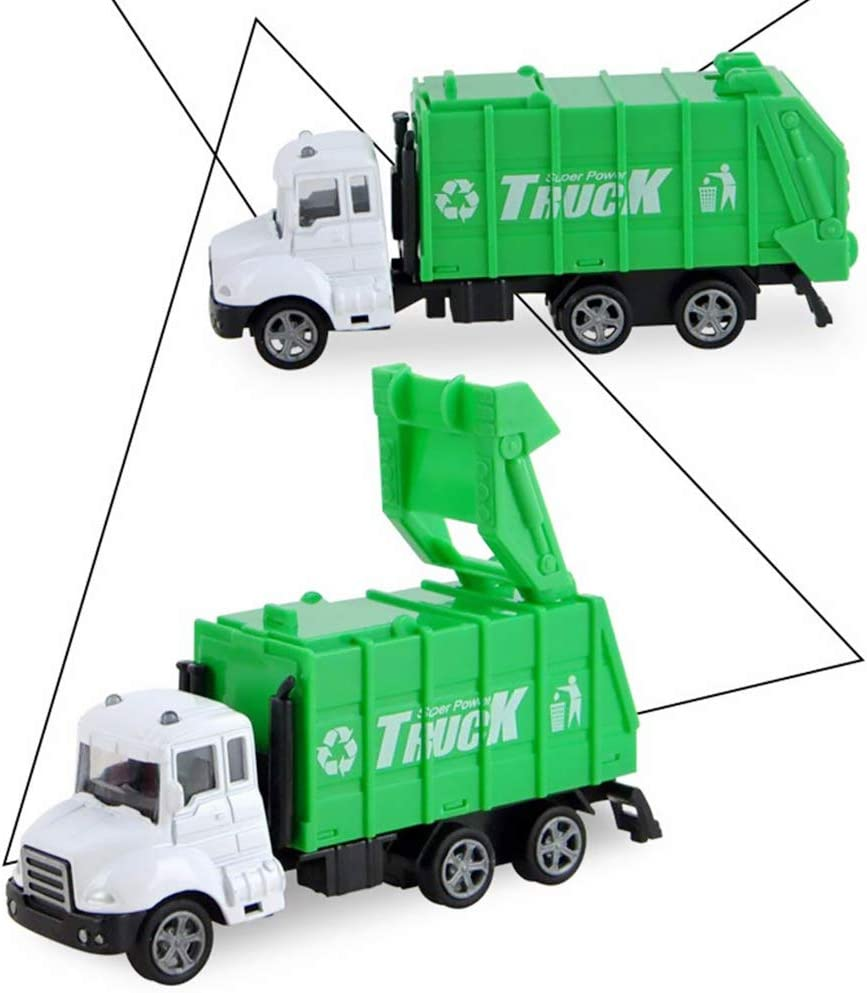 1PC Interesting Toy Simulation Car Toy Alloy Simulation Car Toy Pull Back Vehicle Model Kids Gift Toys Garbage Truck