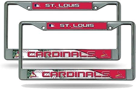 Rico St Louis Cardinals Mlb Nummernschildrahmen Metall Verchromt 2 Stück Auto