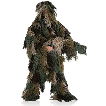 RANRANHOME Traje Ghillie - Trajes Ghillie 3D Caza, Equipo ...