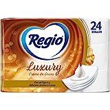 Regio Regio Papel Higiénico Creme De Cocoa, 24 Rollos, Logero Aroma A Cocoa, Hojas Triples, color, 24 count, pack of/paquete