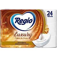 Regio Regio Papel Higiénico Creme De Cocoa, 24 Rollos, Logero Aroma A Cocoa, Hojas Triples, color, 24 count, pack of…