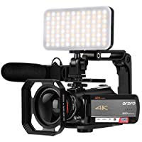 Camcorder 4K Video Camera, ORDRO AC5 UHD Camcorder with 12x Optical Zoom 3.1