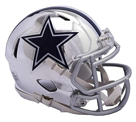 1b58d5bce Image Unavailable. Image not available for. Color: Dallas Cowboys - Chrome  Alternate Speed Riddell Mini Football Helmet ...
