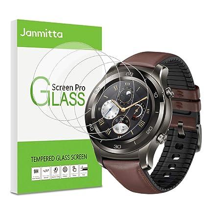 Janmitta para Huawei Watch GT 2 46mm Protector de Pantalla [4 Piezas], 9H Dureza [Alta Definicion] [Fácil de Instalar] Cristal Vidrio Templado Film ...