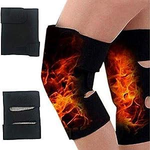 1 Pair Heated Knee Brace Wrap Heat Knee Massager for Arthritis Knee Pain Relief Massaging Knee Pad