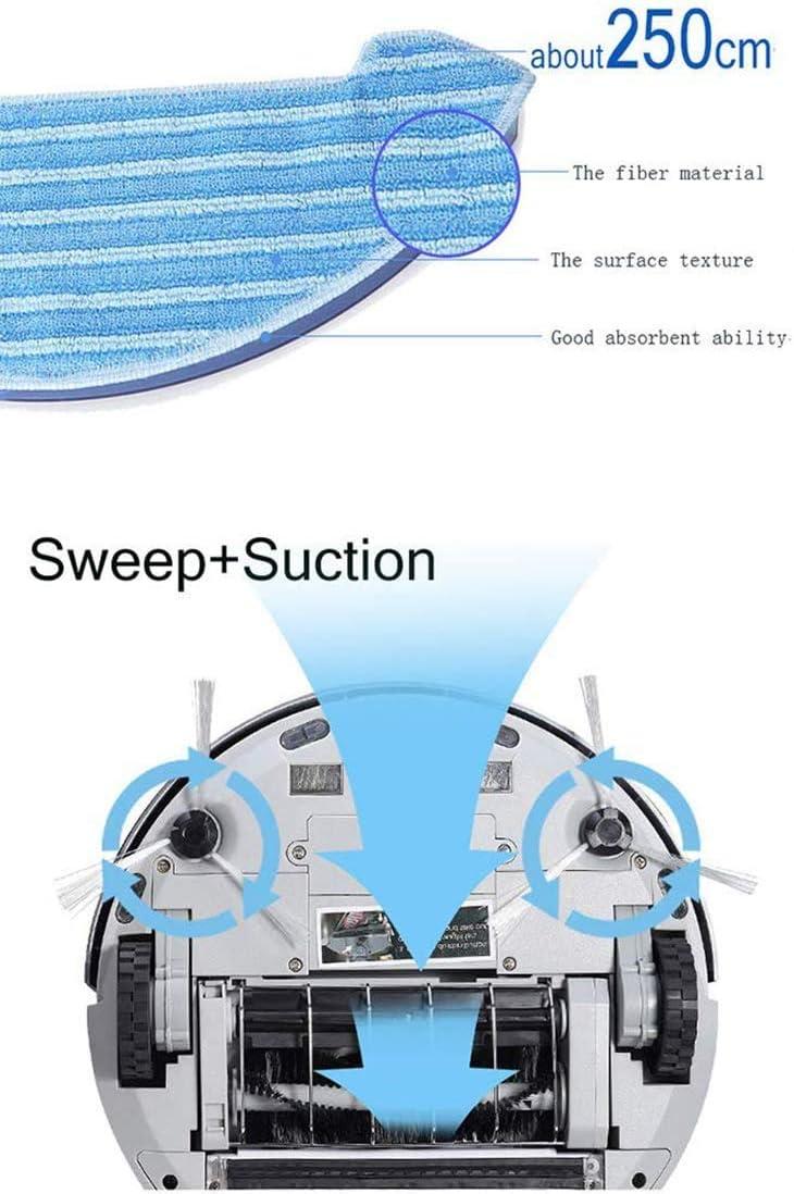 UPANV Aspirateur Robot Programmable Automatique, Écran Tactile Mince, Nettoyage Domestique Robotisé Super Silencieux Et Automatique pour Parquet en Moquette, 4 Couleurs,Rose Red