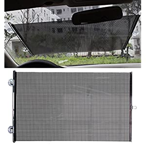 Vinmax (FBA available)Universal Fit Car Front Rear Windshield Sun Protection Mesh Sun Shades Blind Kids Baby Children Sunshade -Fits All (99%) Cars