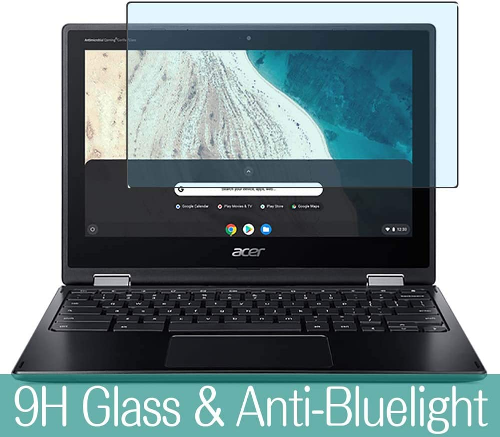 "Synvy Anti Blue Light Tempered Glass Screen Protector Compatible with ACER Chromebook Spin 511 R752T-G2 11.6"" Visible Area 9H Protective Screen Film Protectors (Not Full Coverage)"