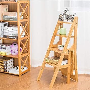 vcsere Jardín/Decoración de interiores Escalera multifunción de madera maciza Escalera plegable para el hogar Escalera gruesa de escalada interior Aumenta la escalera de cuatro escalones - Cómodo /: Amazon.es: Bricolaje y herramientas