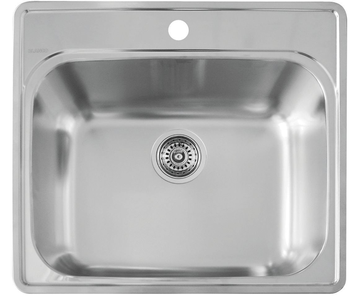 Blanco 441078 Essential Laundry Sink, Stainless Steel   Single Bowl Sinks    Amazon.com