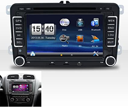 E-TONG Auto Radio 2 Din Car DVD VW Navigation for Volkswagen ...