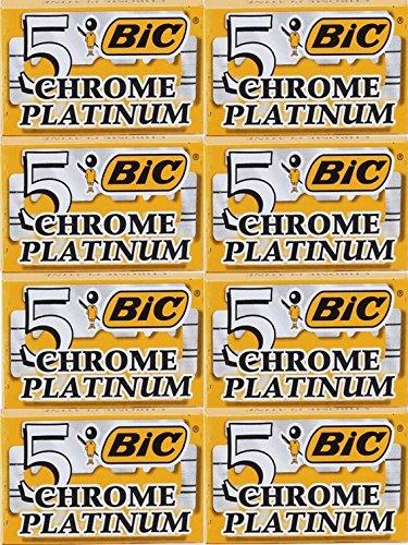 (40 Bic Chrome Platinum Double Edge Razor Blades)